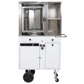 Carrinho de churrasco grego espeto automático - Alsa CCG1.2GP