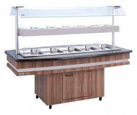 Buffet conjugado 10 cubas quentes e 6 frias - rf-130 - Frilux